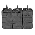 VISM by NcStar AR Triple Mag Pouch - BLACK