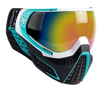 HK Army KLR Goggles - White/Teal Fusion Lens