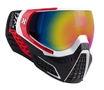 HK Army KLR Goggles - White/Red Fusion Lens